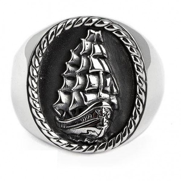 Ring Segelschiff Dreimaster 925er Sterling Silber maritimer Schmuck