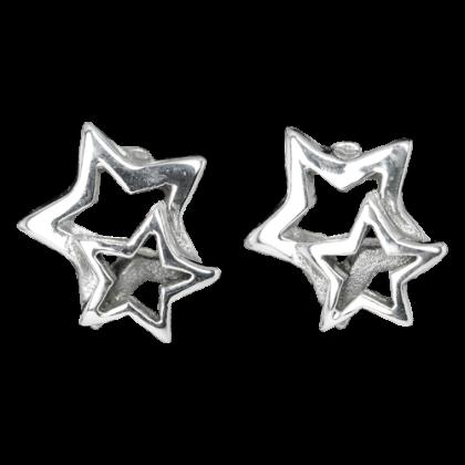 Ohrstecker Stern und Sternchen 925er Sterling SilberSilber Schmuck