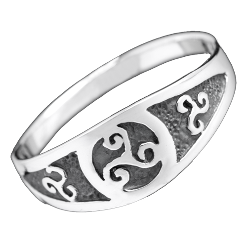 Ring Triskele Peitschenrad 925er Sterling Silber