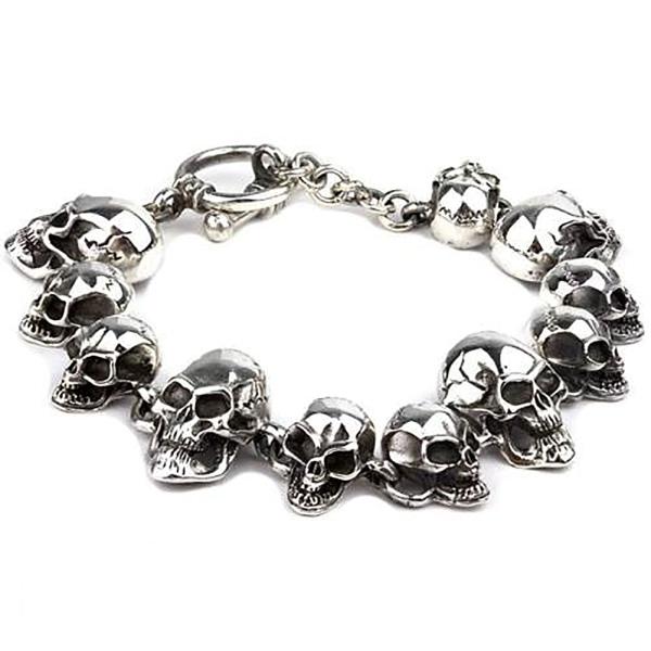 Silberarmband Totenköpfe Skulls 925 Silber