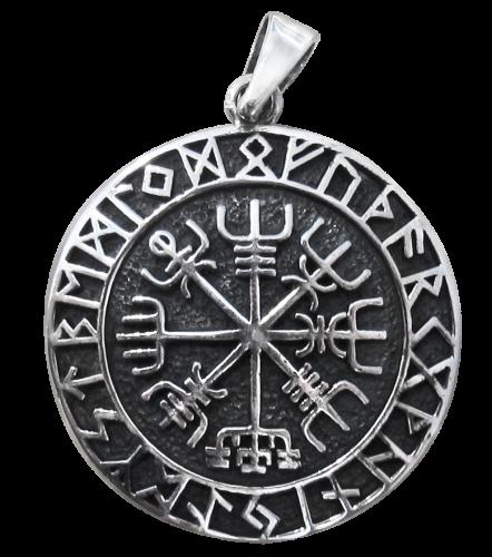 Wikingerkompaß 925er Sterling Silber