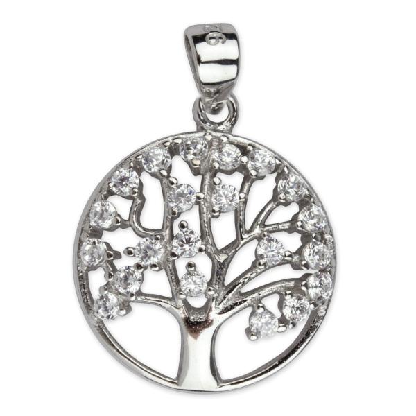 Lebensbaum Kettenanhänger aus 925er Sterling Silber