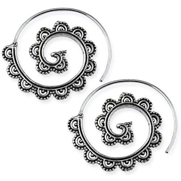 Silberohrringe Spiral Ornament