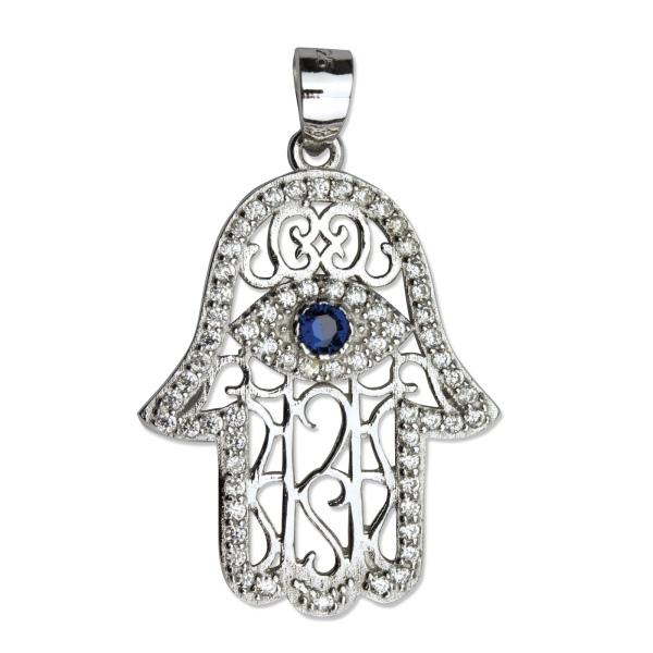 Hamsa Amulett Hand der Fatima 925er Sterling Silber