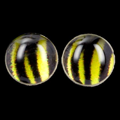 Kleiner Ohrstecker Yellow Tiger Silber mit Motivprint Animal Ohrringe