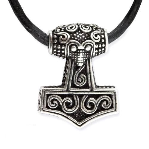 Amulett Thors Hammer Thorhammer Anhänger 925er Sterling Silber