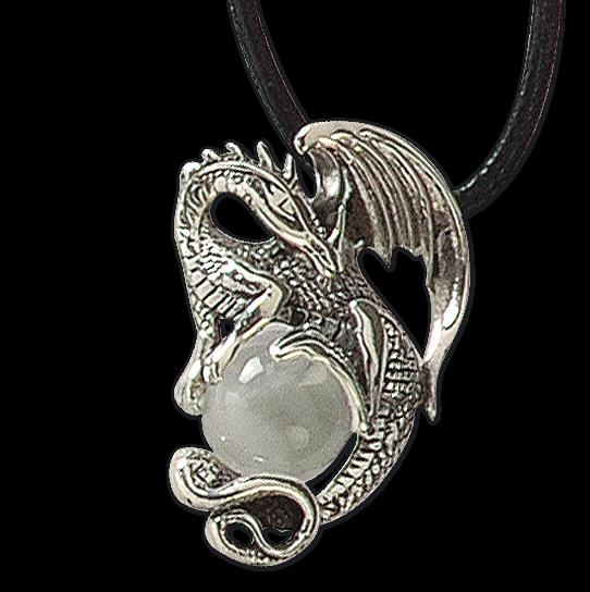 Anhänger Crystal Dragon 925er Sterling Silber