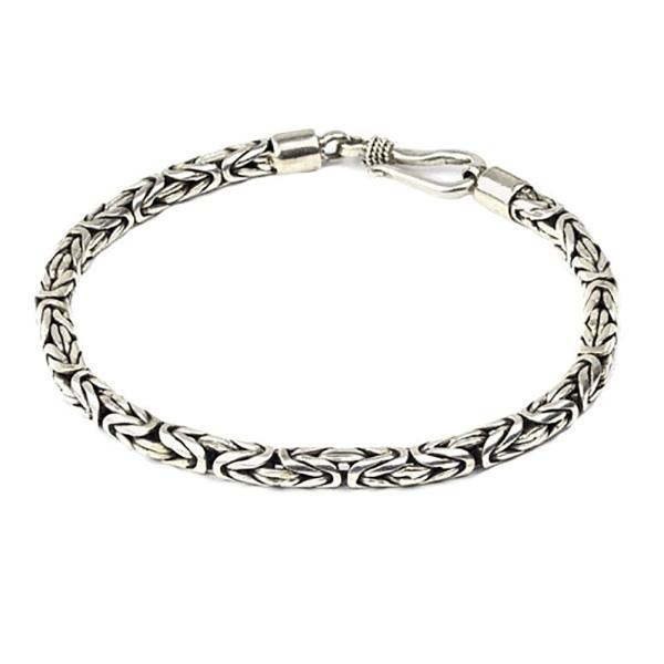 Silberarmband Königskette 925er Sterling Silber Länge 21cm