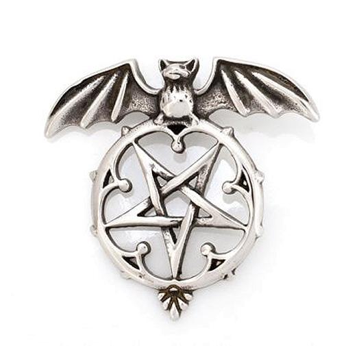 Anhänger Fledermaus auf Pentagramm