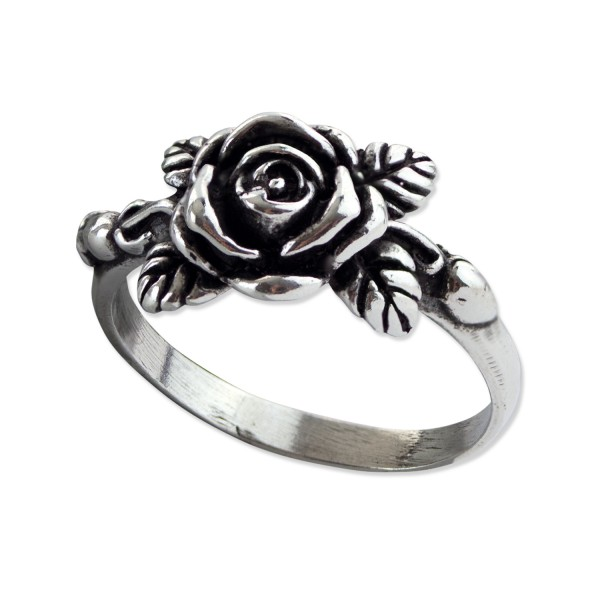Damenring Rose 925er Sterling Silber Rosenring