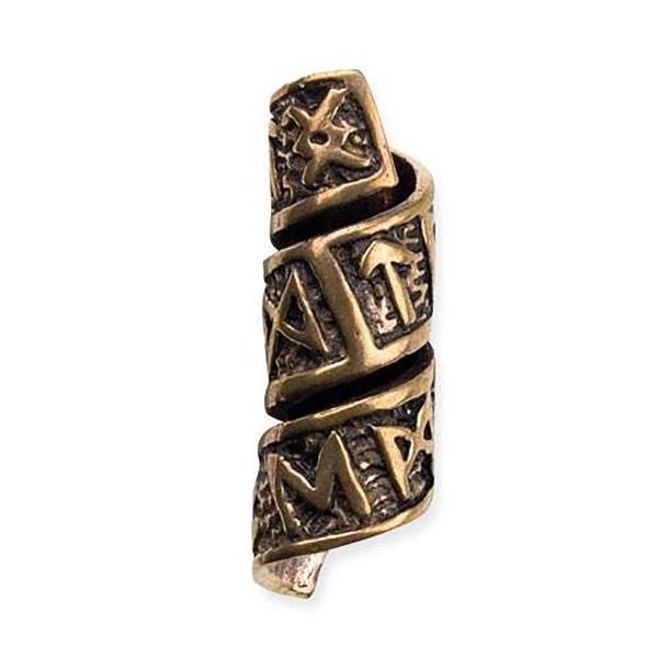 Bartperle Runen aus Bronze Haarperle Dreadlocks.