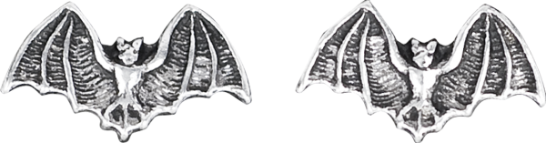 Silberohrstecker Fledermaus