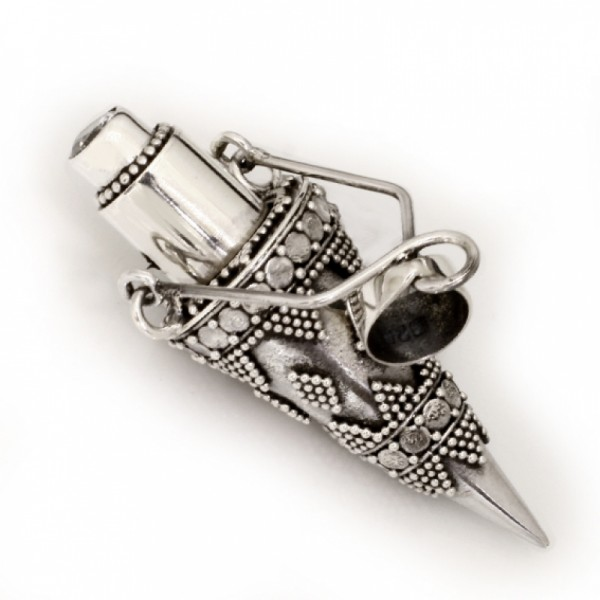 Anhänger Parfumfläschchen zum Öffnen aus 925er Sterling Silber