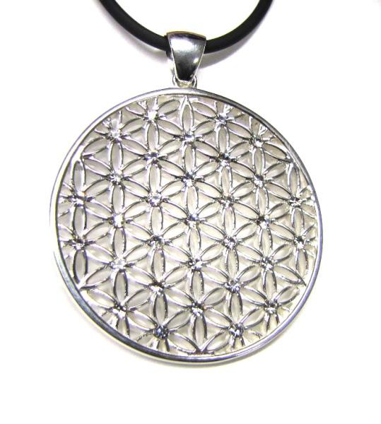 Amulett Blume des Lebens 925er Sterling Silber
