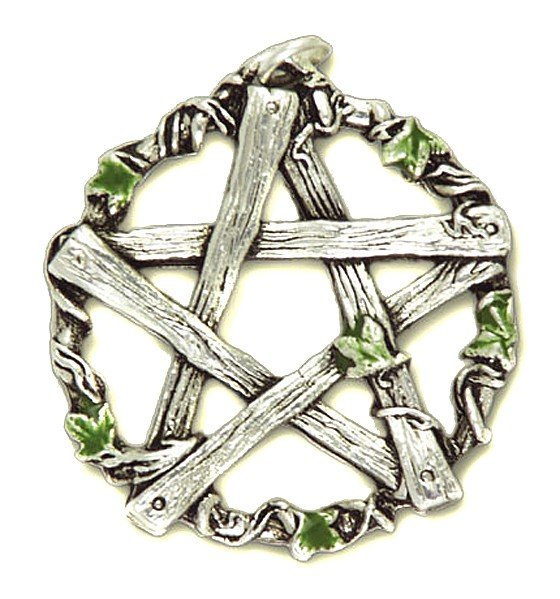 Amulett Pentagramm von Pan Anhänger aus Zinn inkl Kette