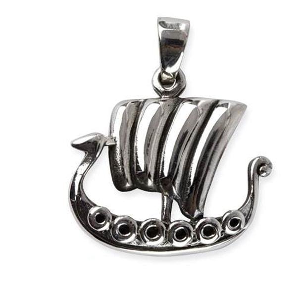 Drachenboot Anhänger aus 925er Sterling Silber