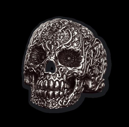 Ring Totenkopf Ornament Skull Edelstahl