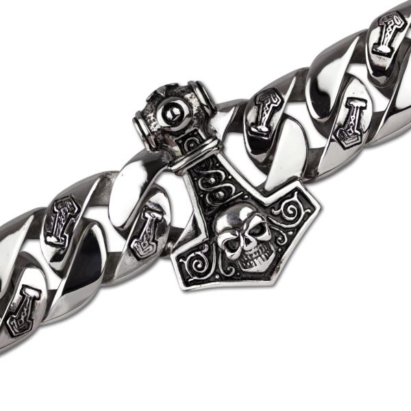 Armband  Thors Hammer aus Edelstahl