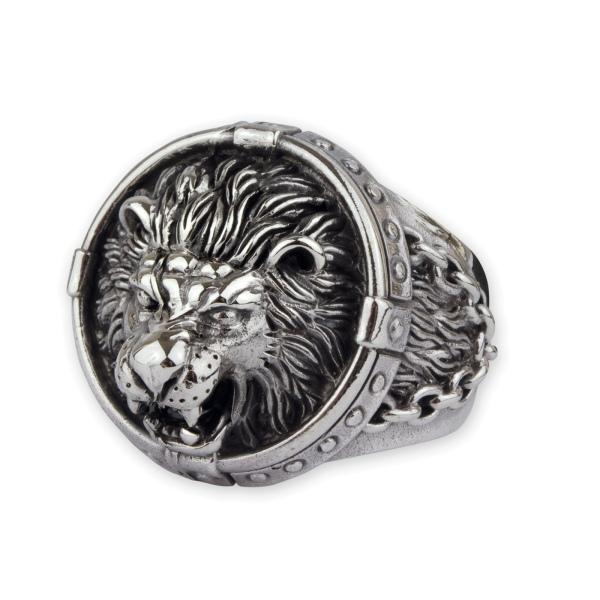 Löwenring aus 925er Sterling Silber