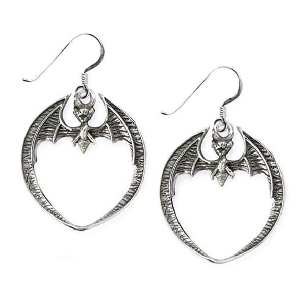 Ohrhänger Fledermaus runde Ohrringe aus 925er Sterling Silber Gothic …