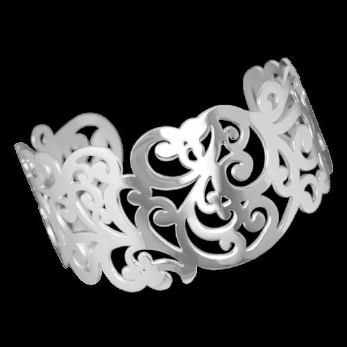 Armreifen Ornament aus Edelstahl