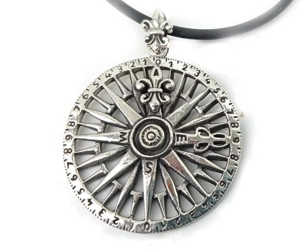 Toms-Silver Schmuck Anhänger Kompass 925 Silber