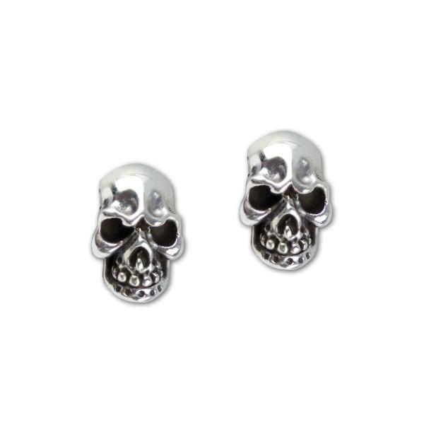 Ohrstecker Evil Skull aus 925er Sterling Silber