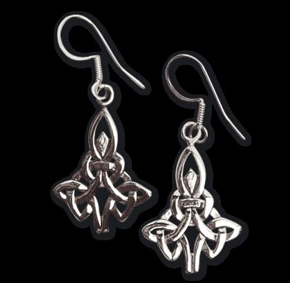 Ohrhänger Keltische Knoten 925er Sterling Silber