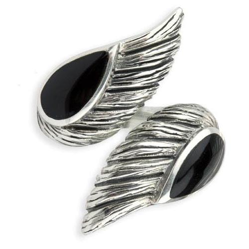 Silberring Engelsflügel mit zwei Schwingen aus 925er Sterling Silber