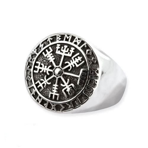 Wikinger Kompass Silberring