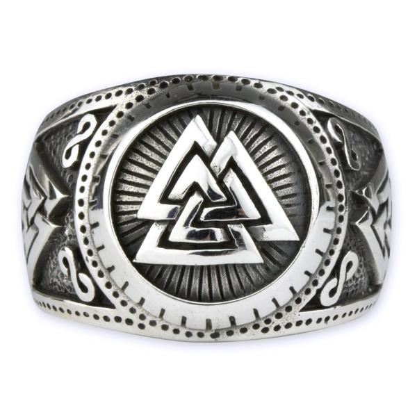 Ring Wotansknoten 925 Sterling Silber Breite 1,7cm