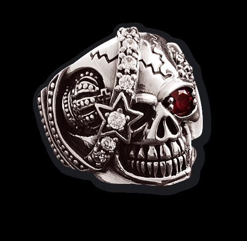 Ring Totenkopf Skull massiver Eyecatcher