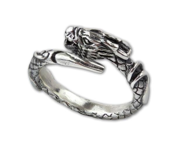 Ring Drache Dragon Drachenring aus 925er Sterling Silber