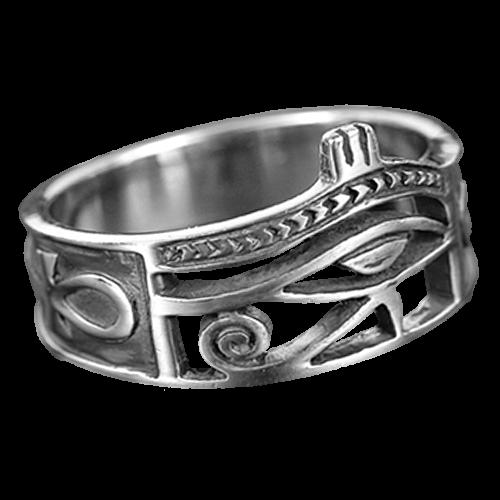 Ring Horus-Auge aus 925er Sterling Silber