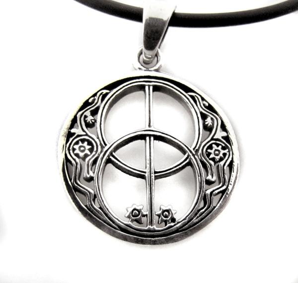 Amulett Anhänger Chalice Well Amulett aus 925er Sterling Silbee
