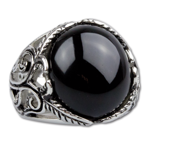 Ring Gothic aus Edelstahl