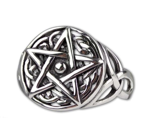 Silberring Celtic Pentagramm