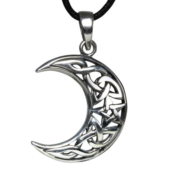 Anhänger Mond mit keltischen Knoten 925 Sterling