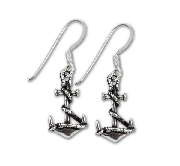1 Paar Ohrringe kleine Schiffsanker aus 925er Sterling Silber