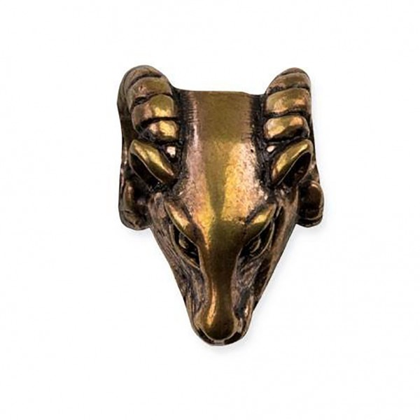 Bartperle Widderkopf Bronze