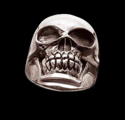 Ring Totenkopf Skull aus Edelstahl Totenkopfring