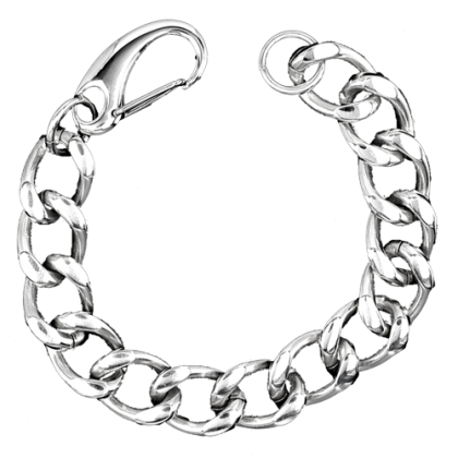 Armband Fettes Teil - Edelstahl 21,5 cm Schmuck