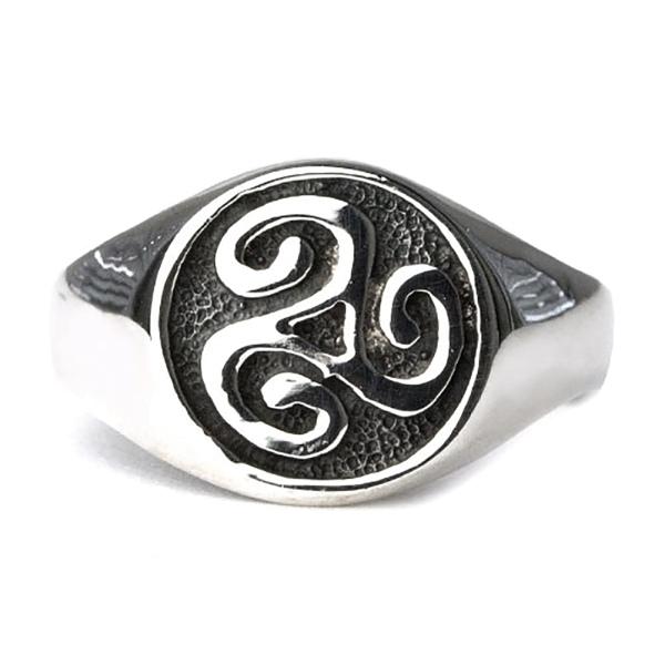 Ring Keltische Triskele Dreierwirbel 925er Sterling Silber Höhe 1,2cm