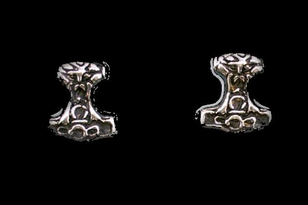 Ohrstecker Thorshammer Silber Thor keltische Ohrringe