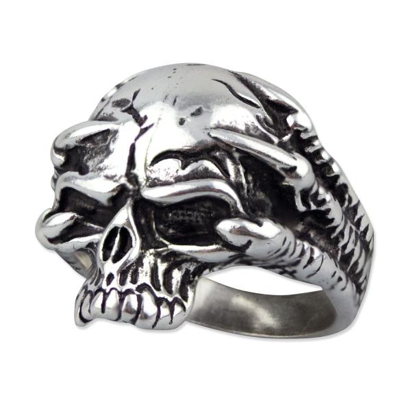 Totenkopfrring Musing Skull 925er Sterling Silber