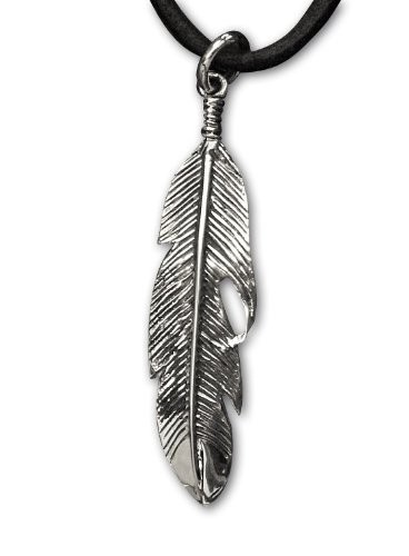 Anhänger Feder Indianerfeder 925 Silber Länge 5cm