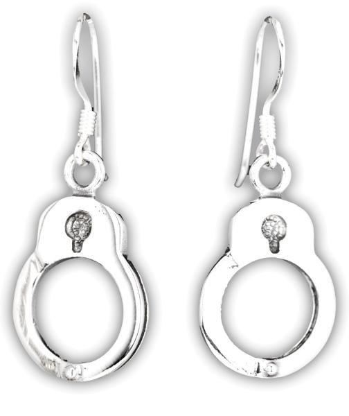 Ohrhänger Handschellen aus 925er Sterling Silber