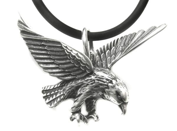 Adler Anhänger am Lederband 925er Silber