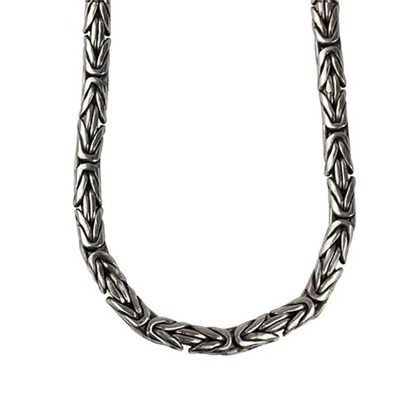 Königskette rund 925 Silber Länge 42 cm Stärke 4 mm