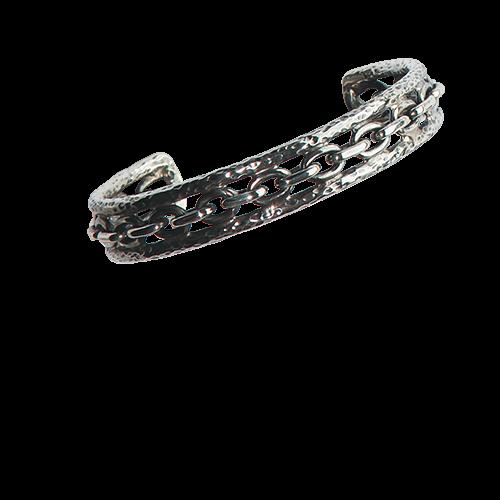 Armreif Chained mit umlaufender Kette 925er Sterling Silber